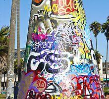 Graffiti Cone - Venice Beach, CA by JD Delgado