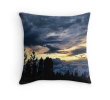 Passing Through the Storm Throw Pillow