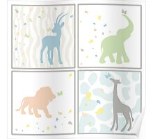 Animals for Baby Boy Poster