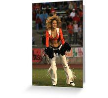 Broncos Cheerleaders in action Part 2 Greeting Card