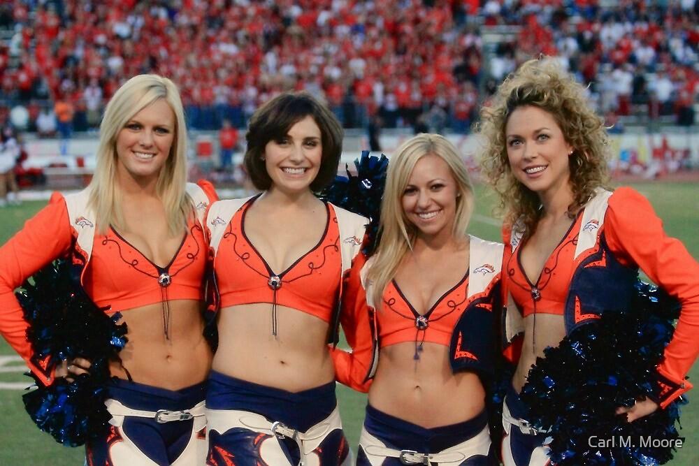 Broncos Cheerleaders by Carl M. Moore