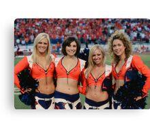 Broncos Cheerleaders Canvas Print