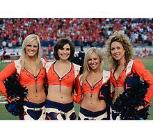 Broncos Cheerleaders Photographic Print