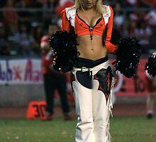 Broncos Cheerleaders in action Part 3 by Carl M. Moore