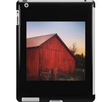Rustic red barn at dusk iPad Case/Skin
