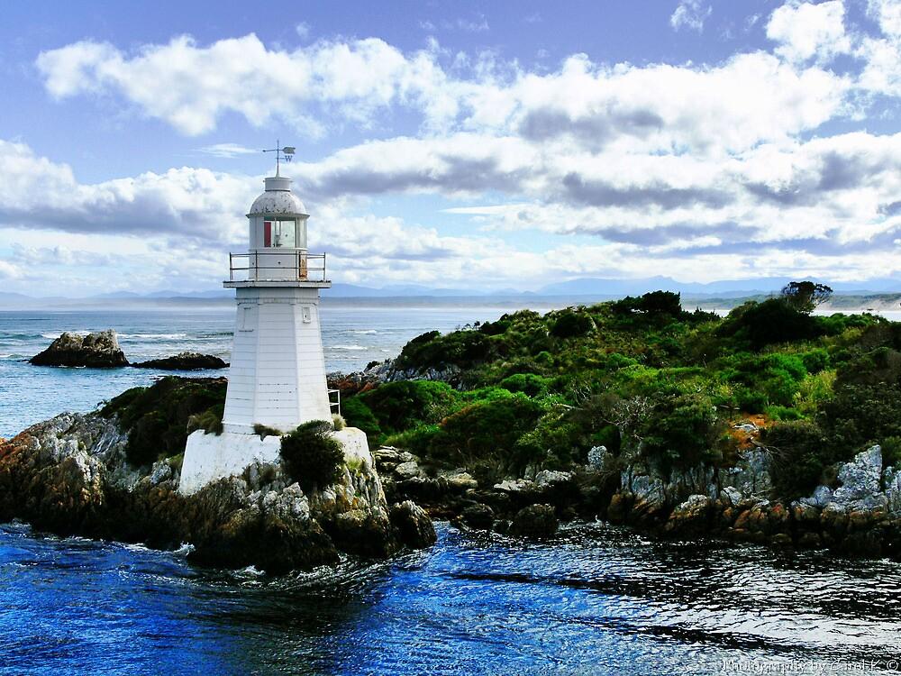 Maquarie Heads Lighthouse - Tasmania by Carol Knudsen