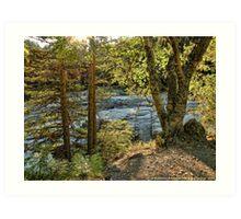 Glacier Autumn 2 (MacDonald Creek) Art Print