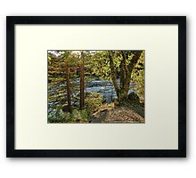 Glacier Autumn 2 (MacDonald Creek) Framed Print