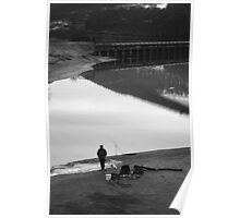Hardy Fisherman, Ladybower, Derbyshire Poster