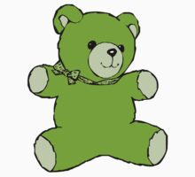 teddy bear green by IMPACTEES