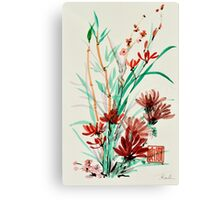 Flowers and Shoots Canvas Print