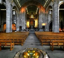 Leeds Cathedral - Nave & Font by Yhun Suarez