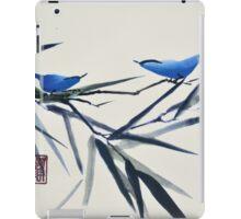 Blue Birds on Branch iPad Case/Skin