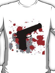 Black gun with blood spots T-Shirt