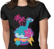 Rainbowsaurus  Womens Fitted T-Shirt