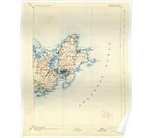 Massachusetts  USGS Historical Topo Map MA Gloucester 352704 1893 62500 Poster