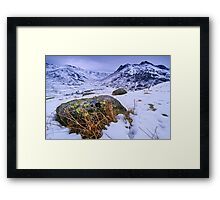 Great Langdale in Winter - The Lake District Framed Print