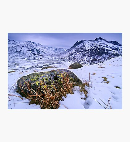 Great Langdale in Winter - The Lake District Photographic Print