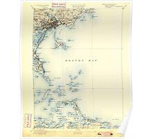 Massachusetts  USGS Historical Topo Map MA Boston Bay 352521 1892 62500 Poster