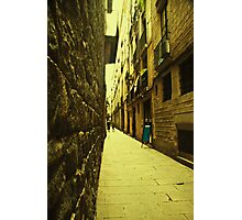 I dreamt about a narrow street where i could find you. You were not there. Instead i found myself. Photographic Print