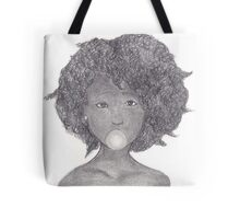 Girl with Gum Tote Bag