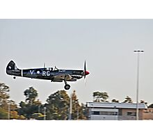 Spitfire, Wheels down Photographic Print