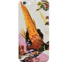 Chinese Pheasant on Branch iPhone Case/Skin