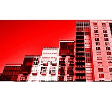 Red Buildings Photographic Print