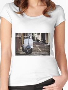 Silver Vespa Women's Fitted Scoop T-Shirt
