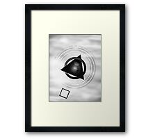 Point To The Moon Framed Print