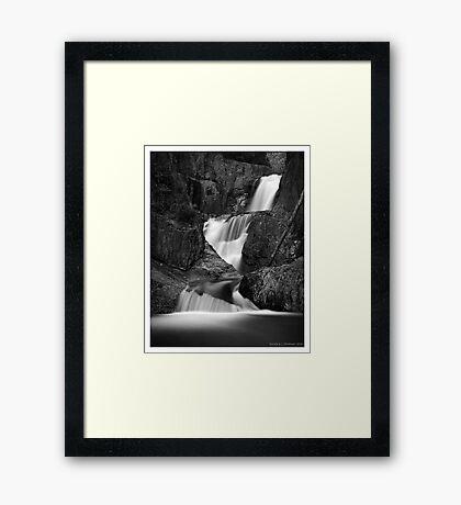 Smalls Falls in B&W Framed Print