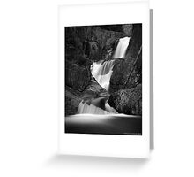 Smalls Falls in B&W Greeting Card