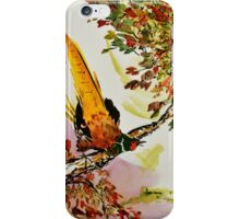 Pheasant on Branch iPhone Case/Skin
