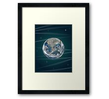 Earth In Space Framed Print