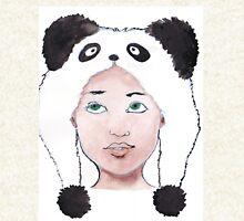 Girl in Panda Hat Pullover
