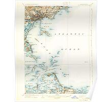 Massachusetts  USGS Historical Topo Map MA Boston Bay 352532 1903 62500 Poster