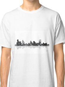 Memphis, Tennessee Skyline - Black and White Classic T-Shirt