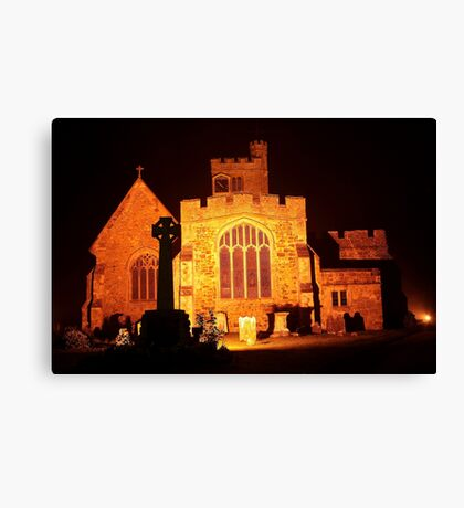 Biddenden Church at Night East End Canvas Print