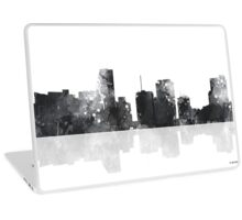 Miami, Florida Skyline - Black and White Laptop Skin
