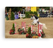 The Canadian  Show Jumping tournament Canvas Print