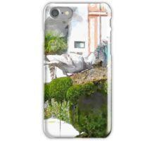 Amalfi: pigeons on fountain iPhone Case/Skin