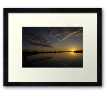 Saltpan Sunset Framed Print