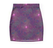 Vaporwave-Seamless Warped Lights Mini Skirt