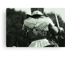 Pauldrons and Backplate Canvas Print