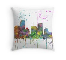 Miami, Florida Skyline Throw Pillow