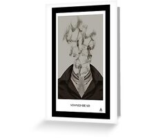 Stoned head Greeting Card