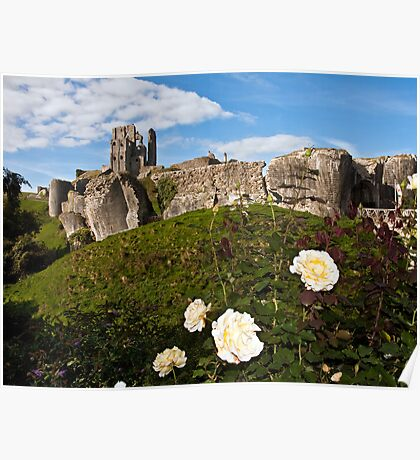 The majestic Corfe castle Poster
