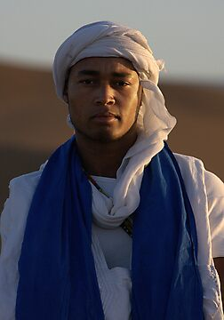 Sahara sunrise and Berber tribesman by fotopro