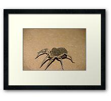 Wolf Spider and spiderlets Framed Print