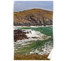 Kynance Cove at High Tide Poster